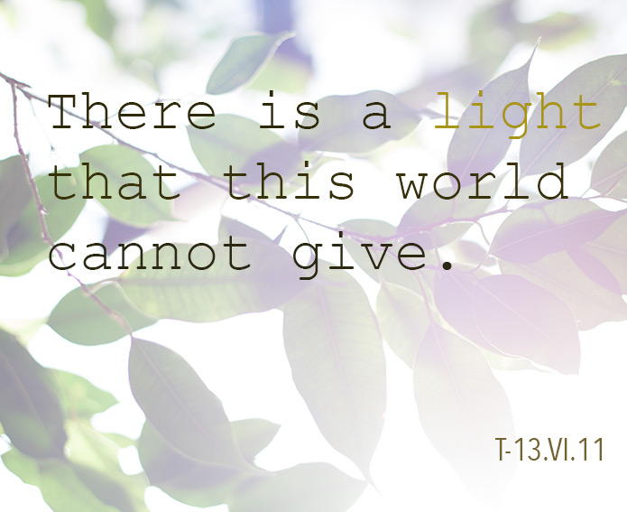 There is a light that this world cannot give
